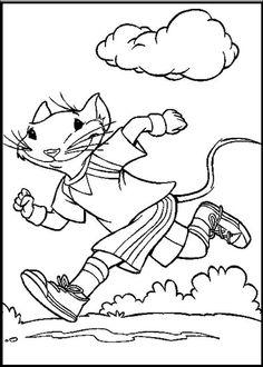 Stuart Little Running Morning Coloring Picture For Kids