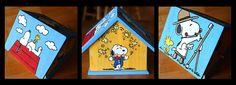 Bird house craft day. I love Snoopy!
