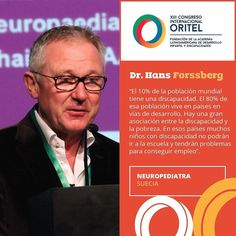 Hans Forssberg nos ofreció datos contundentes sobre la situación de las personas con discapacidad a nivel mundial. #CongresoORITEL