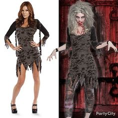 See how to put together this drop-dead ghoul-glam zombie costume complete with undead complexion and ripped zombie leggings. Click for tips to help you master your disguise! #BeACharacter