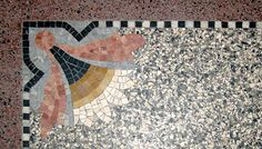 Terrazo flooring- as much or as little flair as you want. Terrazo Flooring, Sunshine Homes, Mid-century Modern, Modern Design, Carrara, Mid Century Design, Mosaic Tiles, Color Patterns, Art Nouveau
