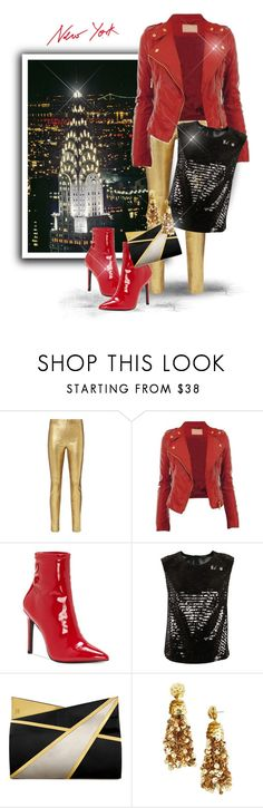 """""""New York Chrysler Building"""" by majezy ❤ liked on Polyvore featuring Intermix, Jessica Simpson, Marc Jacobs, Jill Haber and BaubleBar"""