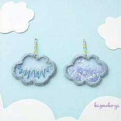 サラサラ♪雲のピアス*イヤリング Jewelry Design Earrings, Lace Earrings, Crochet Earrings, Beaded Embroidery, Embroidery Stitches, Hand Embroidery, Brooches Handmade, Earrings Handmade, Textiles