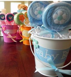 Baby wash cloth Lolly pops