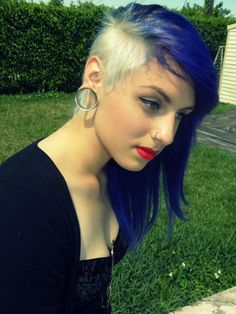 blue and white mohawk