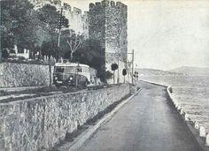 1960'larda Rumelihisarı (Otobüs muhtemelen Taksim-Sarıyer hattı)