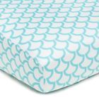 Aqua Sea Waves Fitted Crib Sheet Baby Safe Nursery Bedding Accessories Pregnancy - http://baby.goshoppins.com/nursery-bedding/aqua-sea-waves-fitted-crib-sheet-baby-safe-nursery-bedding-accessories-pregnancy/