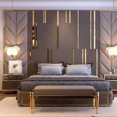 bedroom interior design Comfortable Modern Small Bedroom Design and Decor Ideas Modern Luxury Bedroom, Master Bedroom Interior, Luxury Bedroom Design, Bedroom Bed Design, Luxury Home Decor, Contemporary Bedroom, Luxurious Bedrooms, Home Bedroom, Bedroom Decor