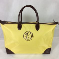 There is going to be a very happy customer that receives this bag in the mail! Love the brown thread for the monogram.