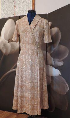 Principles Smart Wrapover Sand/Cream Patterned Dress, size 10