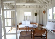 Interior wood details - The ultimate budget beach house: a remodeled A-frame on Fire Island belonging to Ann Stephenson and Lori Sacco, Kate Sears photo Chic Beach House, Beach House Decor, Home Decor, Fire Island, Beach Cottage Style, Ideias Diy, Beach Shack, Beach Cottages, Fixer Upper