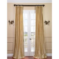 Signature Biscotti Textured Silk Curtain Panel - Overstock™ Shopping - Great Deals on EFF Curtains
