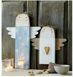 Check out some of the most awesome Christmas crafts for kids that theyll absolutely love making over the festive season Wooden Christmas Decorations, Christmas Wood, Christmas Crafts For Kids, Book Crafts, Christmas Angels, Holiday Crafts, Christmas Time, Diy And Crafts, Christmas Gifts