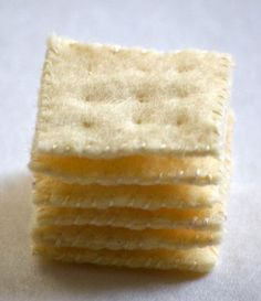 Etsy Crush: Felt Saltine Cracker Stack - Foodista.com