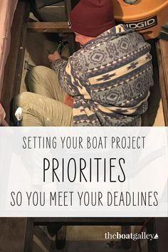 """Dealing with the """"to do"""" list to start cruising--setting priorities. Tent Air Conditioner, Macgregor 26, Boat Restoration, Rum Balls, Priorities List, Boat Projects, Composting Toilet, Camping Meals, Camp Foods"""