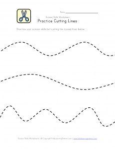 Scissor Skill Worksheets | Preschool Printables  -Repinned by Totetude.com