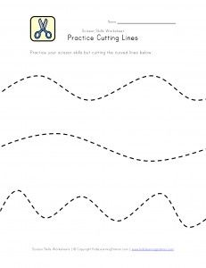 Scissor Skill Worksheets   Preschool Printables  -Repinned by Totetude.com