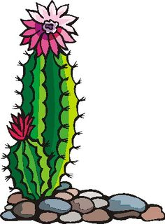 Gallery for cactus flower clipart 2 image #25259