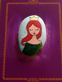 Hand painted stone by lunkaes on Etsy