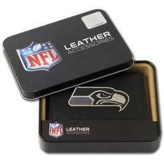 NFL - Men's Seattle Seahawks Embroidered Trifold Wallet, Grey