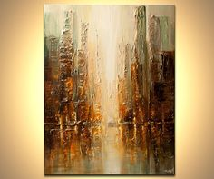 Modern Art Poster on Photographic Paper  Downtown  by OsnatFineArt