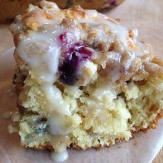 Blueberry Cream Crumb Cake by The Uncomplicated Kitchen