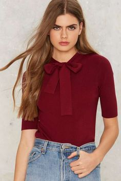 Peggy Pussy Bow Top