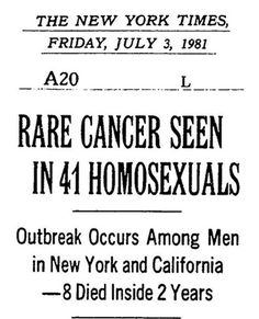 'Everyone knew it was hitting gay men, nobody knew what it was. They called it the gay cancer.'