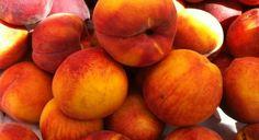 Peaches in Raspberry Yogurt Sauce