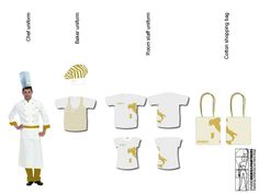 Concept design of a bakery for the brand ORO BIANCO, located in Italy. Uniforms.