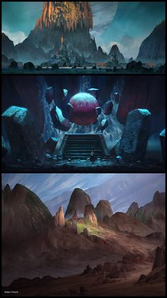 Concept Art World — Take a look at these environment concepts by Kalen...
