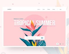 Event website header designed by Divan Raj . Connect with them on Dribbble; the global community for designers and creative professionals. Graphisches Design, Page Design, Layout Design, Design Ideas, Media Design, Website Menu, Event Website, Webdesign Inspiration, Social Media