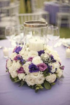 CENTERPIECE With Crystal Detail ! oh my I really love the flowers...gorgeous colors...