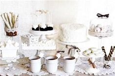 Winter White Dessert Party in Gatherings Magazine