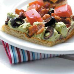 Guacamole Appetizer Squares  These are soooo good! I might need a double batch this year for the 4th of July family get together!
