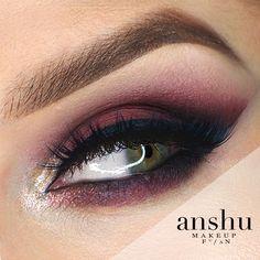 Makeup Geek Eyeshadows in Bitten and Corrupt + Makeup Geek Sparklers in Satellite. Look by: Anshu