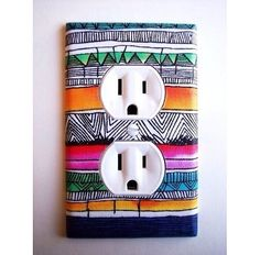 Make your power outlets unique and fun (permanent markers work best)