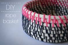 DIY rope basket - great for storing things like bangles and bracelets