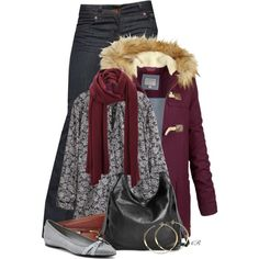 """""""Fat Face Wool Duffle Coat"""" by colierollers on Polyvore"""