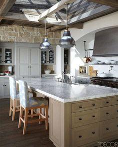 Custom-Made Kitchen Island - ELLEDecor.com