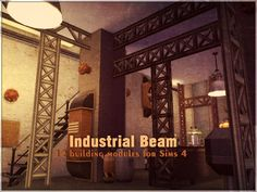 Sims 4 CC's - The Best: Industrial Beams Set by Kiolometro