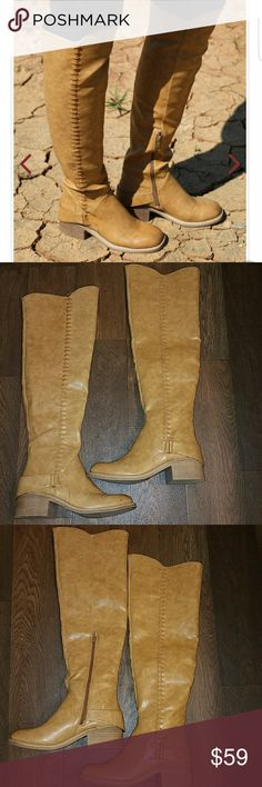 """STAND OUT FOR GOOD W/... These fabulous over the knee boots that fit the needs of any Fall look! You'll love the subtle heel and the detail of the stitching! Pair with your favorite skinnies or a cute mini skirt to complete this look!  2"""" Heel.  Side zipper. Altar'd State Shoes Over the Knee Boots"""