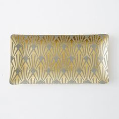 Lulu Frost Tray, Small, Gray/Gold