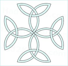 Carolingian Cross - trinity knot cross. Four trinity knots. Four Cs for my four Cs :) Also, this has so much meaning within my family. This may be #8.