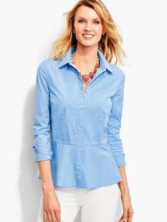 Shop Now - >  https://api.shopstyle.com/action/apiVisitRetailer?id=627783783&pid=uid6996-25233114-59 Peplum Shirt-Pinstripes  ...