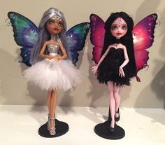Custom Clawdette and Draculaura -- Odette and Odile by Candy-Janney on deviantART.