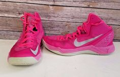the best attitude a780c 82b1e Nike Zoom Hyperdisruptor Basketball Shoes Size 10 Pink Breast Cancer High  top  Nike  BasketballShoes