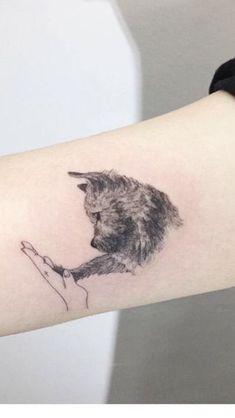Adorable Dog Tattoo by Hongdam Adorable Dog Tattoo by Hongdam tattoo ,tattoo quotes ,tattoo fonts ,w Mini Tattoos, Trendy Tattoos, Cute Tattoos, Beautiful Tattoos, Body Art Tattoos, Small Tattoos, Tattoos For Women, Tatoos, Wrist Tattoos