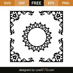 *** FREE SVG CUT FILE for Cricut, Silhouette and more *** Monogram and frame