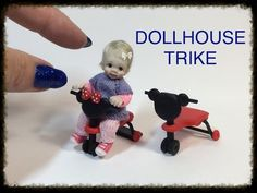 DIY MINIATURE DOLLHOUSE Baby Doll Trike Tricycle TUTORIAL VIDEO - YouTube